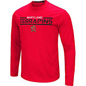 Colosseum Men's Maryland Terrapins Red Long Sleeve Performance T-Shirt