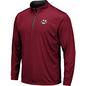 Colosseum Men's UMass Minutemen Maroon Embossed Quarter-Zip Performance Shirt