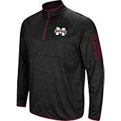 Colosseum Men's Mississippi State Bulldogs Amnesia Quarter-Zip Black Shirt