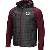 Colosseum Men's Mississippi State Bulldogs Grey/Maroon Baseplate Full-Zip Jacket