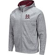 Colosseum Men's Mississippi State Bulldogs Grey Full-Zip Hoodie