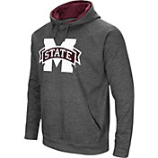 Colosseum Men's Mississippi State Bulldogs Grey Fleece Pullover Hoodie