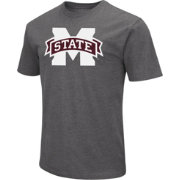 Colosseum Men's Mississippi State Bulldogs Grey Dual Blend T-Shirt