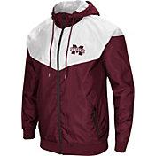 Colosseum Men's Mississippi State Bulldogs Maroon/White Galivanting Full Zip Jacket