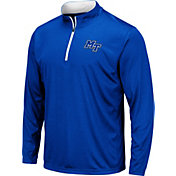 Colosseum Men's Middle Tennessee State Blue Raiders Blue Embossed Quarter-Zip Performance Shirt
