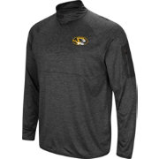 Colosseum Men's Missouri Tigers Grey Amnesia Quarter-Zip Shirt