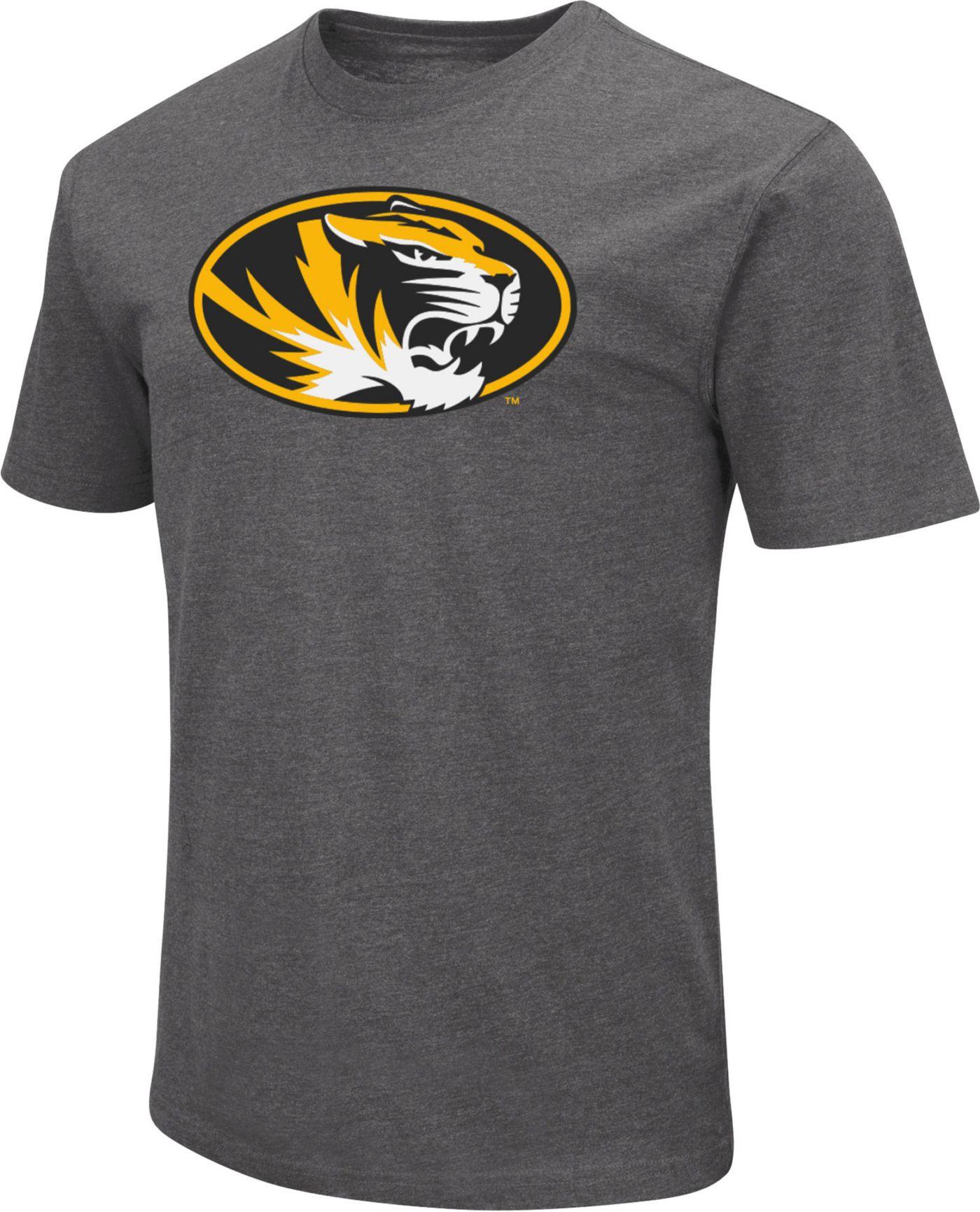 Colosseum Men's Missouri Tigers Grey Dual Blend T-Shirt