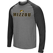 f34bba5b0b10 Product Image · Colosseum Men s Missouri Tigers Grey Black Social Skills  Long Sleeve Raglan T-Shirt