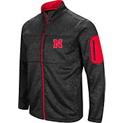 Colosseum Men's Nebraska Cornhuskers Glacier Full-Zip Black Jacket