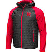 Colosseum Men's Nebraska Cornhuskers Grey/Scarlet Baseplate Full-Zip Jacket