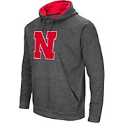 Colosseum Men's Nebraska Cornhuskers Grey Fleece Pullover Hoodie