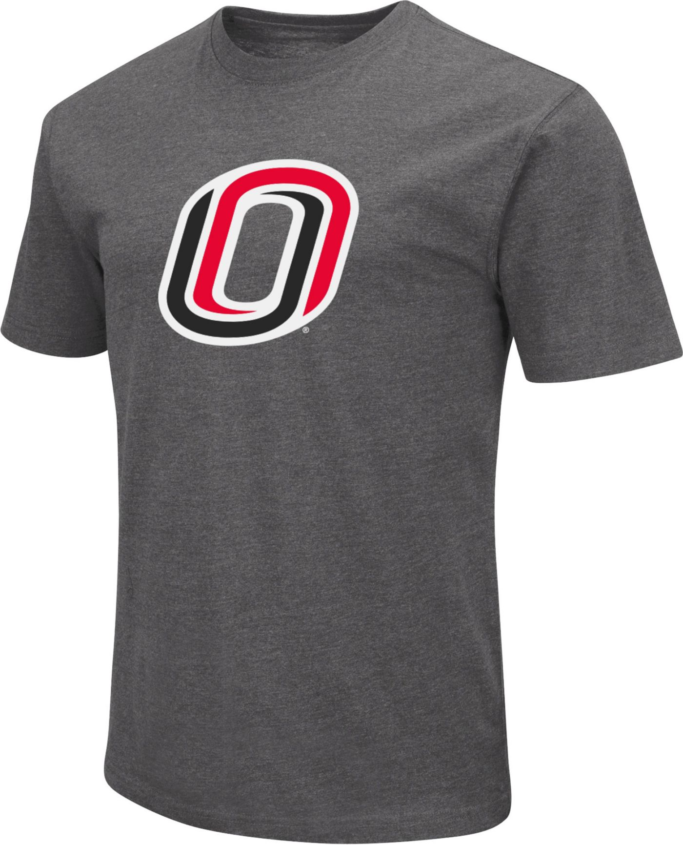 Colosseum Men's Nebraska- Omaha Mavericks Grey Dual Blend T-Shirt