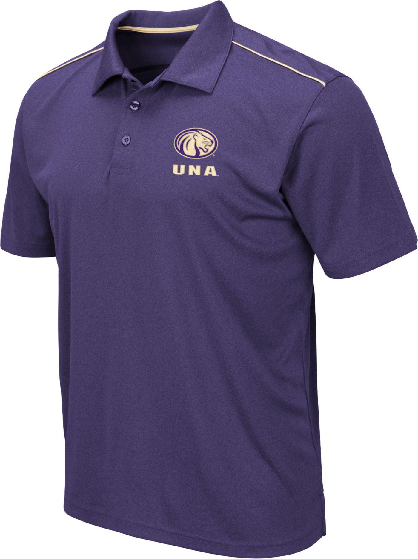 Colosseum Men's North Alabama  Lions Purple Eagle Polo
