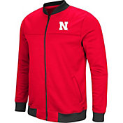 Colosseum Men's Nebraska Cornhuskers Scarlet Sack The QB Full-Zip Bomber Jacket