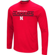 Colosseum Men's Nebraska Cornhuskers Scarlet Long Sleeve Performance T-Shirt