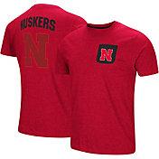 Colosseum Men's Nebraska Cornhuskers Scarlet Voodoo Pocket T-Shirt