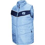 Colosseum Men's North Carolina Tar Heels Carolina Blue Red Beaulieu Full-Zip Vest