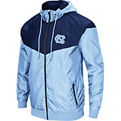 Colosseum Men's North Carolina Tar Heels Carolina Blue/Navy Galivanting Full Zip Jacket