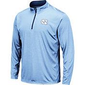 Colosseum Men's North Carolina Tar Heels Carolina Blue Embossed Quarter-Zip Performance Shirt