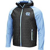 Colosseum Men's North Carolina Tar Heels Grey/Carolina Blue Baseplate Full-Zip Jacket