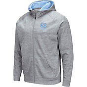Colosseum Men's North Carolina Tar Heels Grey Full-Zip Hoodie