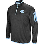 Colosseum Men's North Carolina Tar Heels Grey Amnesia Quarter-Zip Shirt