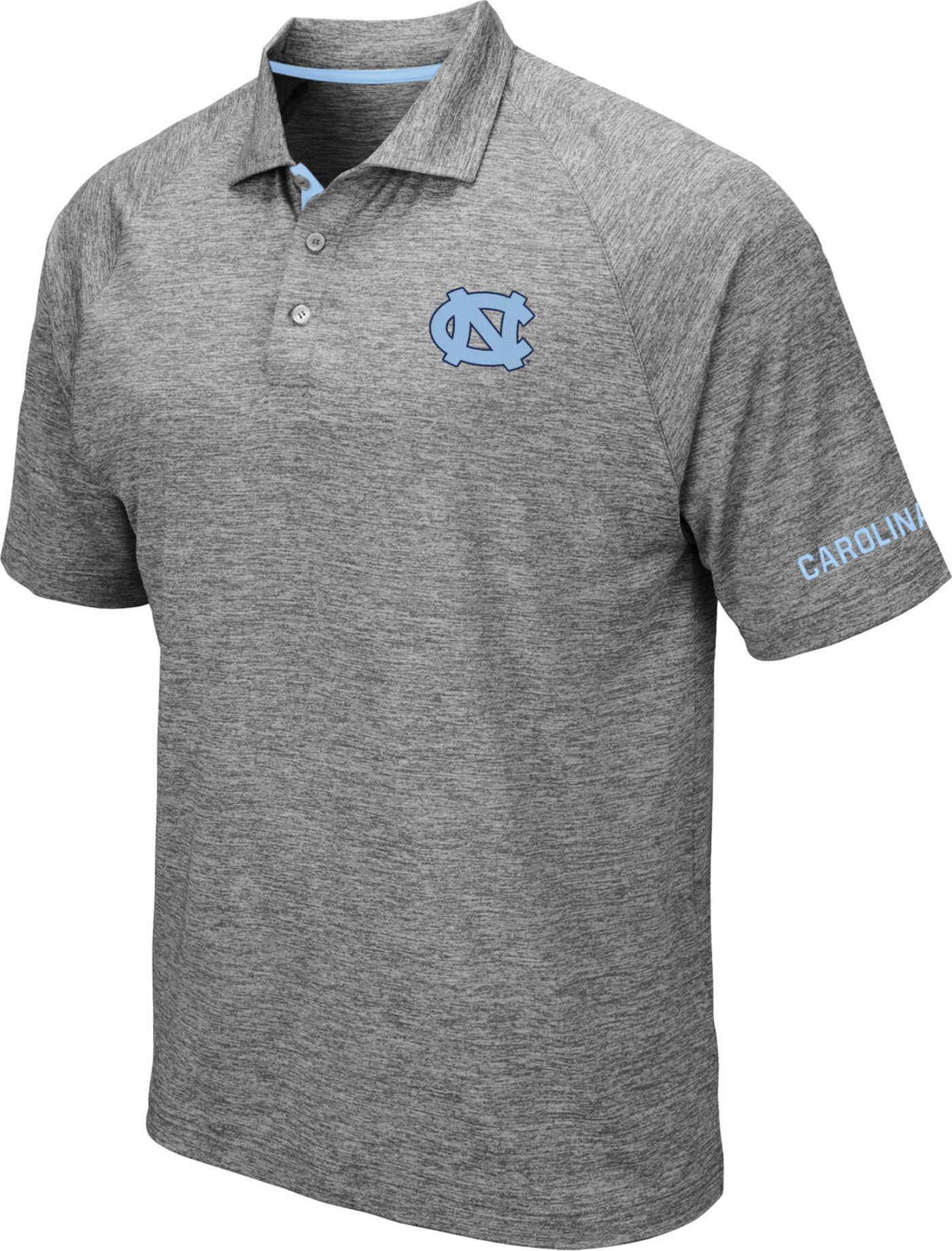 Colosseum Men's North Carolina Tar Heels Grey Chip Shot Polo