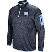 Colosseum Men's North Carolina Tar Heels Navy Amnesia Quarter-Zip Shirt