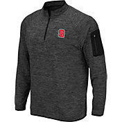 Colosseum Men's NC State Wolfpack Grey Quarter-Zip Shirt