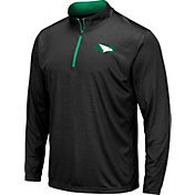 Colosseum Men's North Dakota Fighting Hawks Embossed Quarter-Zip Performance Black Shirt