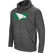 Colosseum Men's North Dakota Fighting Hawks Grey Fleece Pullover Hoodie
