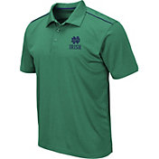 Colosseum Men's Notre Dame Fighting Irish Green Eagle Polo