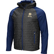 Colosseum Men's Notre Dame Fighting Irish Grey/Navy Baseplate Full-Zip Jacket