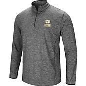 Colosseum Men's Notre Dame Fighting Irish Grey Quarter-Zip Shirt