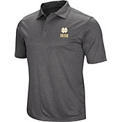 Colosseum Men's Notre Dame Fighting Irish Grey Cut Shot Polo