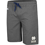 Colosseum Men's Notre Dame Fighting Irish Grey Farmer Fran French Terry Shorts