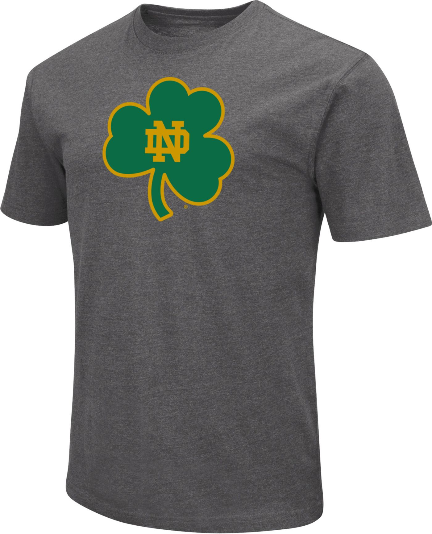 Colosseum Men's Notre Dame Fighting Irish Grey Dual Blend T-Shirt