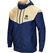 Colosseum Men's Notre Dame Fighting Irish Navy/Gold Galivanting Full Zip Jacket