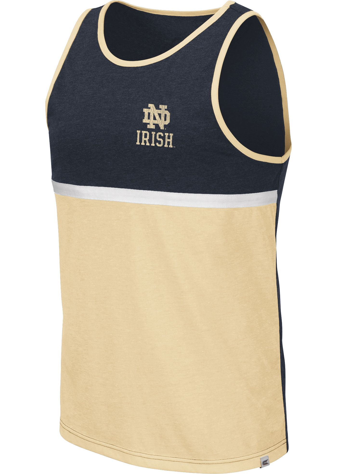 Colosseum Men's Notre Dame Fighting Irish Navy/Gold La Paz Tank Top