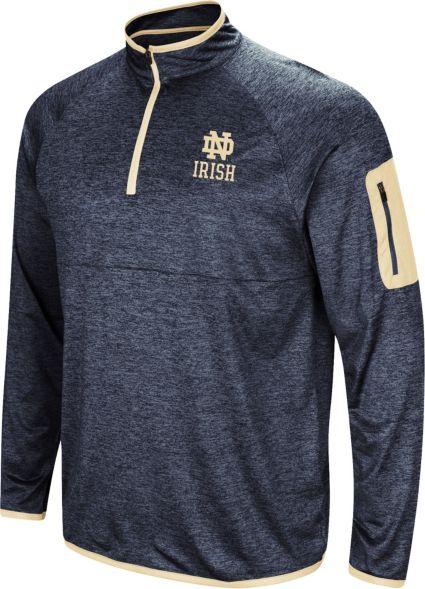 2d2d5a778 Colosseum Men s Notre Dame Fighting Irish Navy Amnesia Quarter-Zip Shirt.  noImageFound