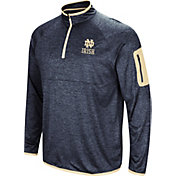 Colosseum Men's Notre Dame Fighting Irish Navy Amnesia Quarter-Zip Shirt