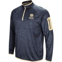 Deals on Colosseum Mens Notre Dame Fighting Amnesia Quarter-Zip Shirt