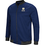 Colosseum Men's Notre Dame Fighting Irish Navy Sack The QB Full-Zip Bomber Jacket