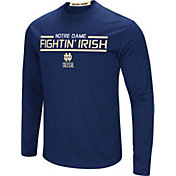 Colosseum Men's Notre Dame Fighting Irish Navy Long Sleeve Performance T-Shirt