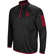 Colosseum Men's Indiana Hoosiers Amnesia Quarter-Zip Black Shirt