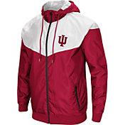 Colosseum Men's Indiana Hoosiers Crimson/Cream Galivanting Full Zip Jacket