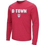 Colosseum Men's Indiana Hoosiers Crimson 'B-Town' Long Sleeve T-Shirt