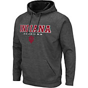 Colosseum Men's Indiana Hoosiers Grey Pullover Hoodie