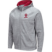 Colosseum Men's Indiana Hoosiers Grey Full-Zip Hoodie