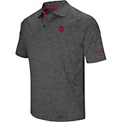 Colosseum Men's Indiana Hoosiers Grey Cut Shot Polo
